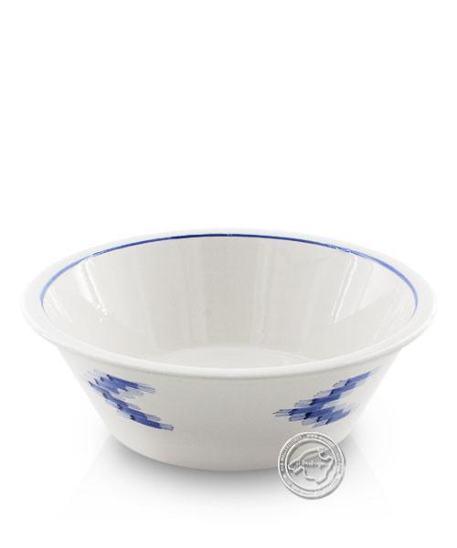 Schüssel weiß, Llenguesmuster blau, volllasiert 30 cm, je Stück