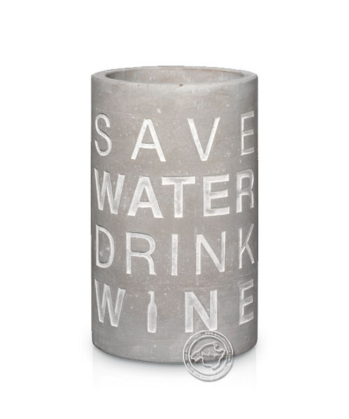 "Flaschenkühler ""Save water drink wine"""