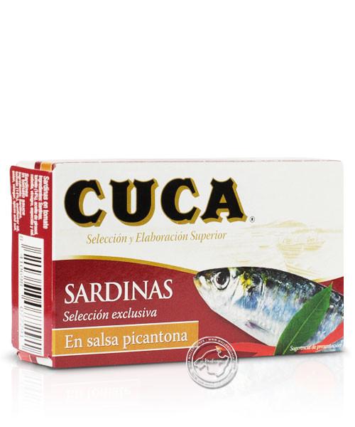 Cuca Sardinas en Salsa Picantona, 80-g-Packung