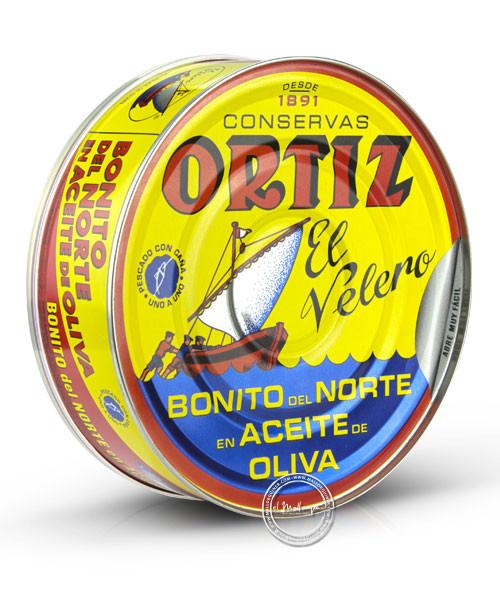 Ortiz Bonito del Norte en aceite de oliva - Weißer Thunfisch in Olivenöl, 480/600 g