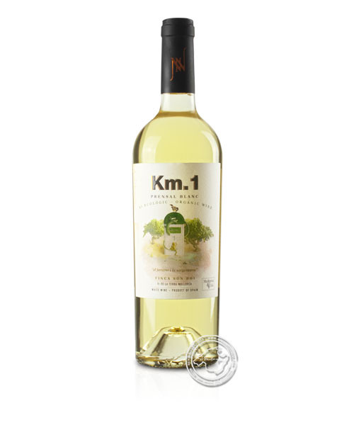 KM1 Blanco ecológico, Vino Blanco 2019, 0,75-l-Flasche