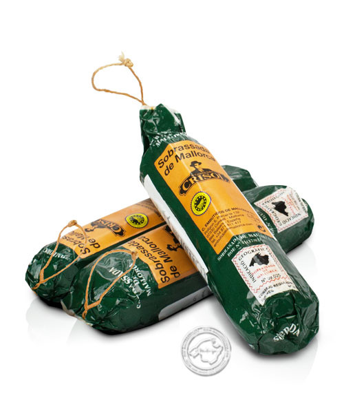 Embotits de Mallorca - Crisol Sobrasada dulce, Arte 250 Paprikastreichwurst, im Kunstdarm, 250 g