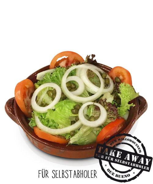 Ensalada Mallorquín - Kleiner grüner Salat mit Tomaten, Zwiebeln und Kapern