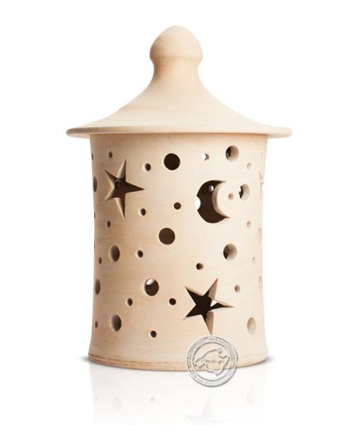 Keramik / Licht / Kunst Campos, Lampara Medi. - Keramikstehleuchte natur Sterne/Mond ohne Sockel, 35