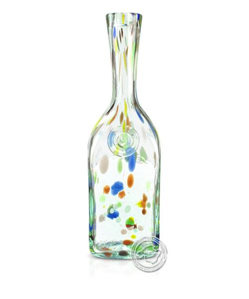 """Glashandwerk Lafiore """"Botella Canete Hilad amaril-azul"""" - Flasche gepunktet gelb/blau, je Stück"""