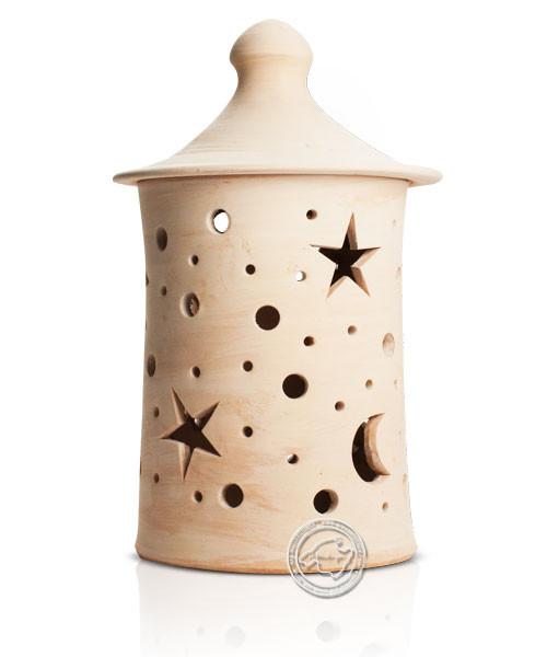 Keramik / Licht / Kunst Campos, Lampara Medi. - Keramikstehleuchte natur Sterne/Mond ohne Sockel, 40