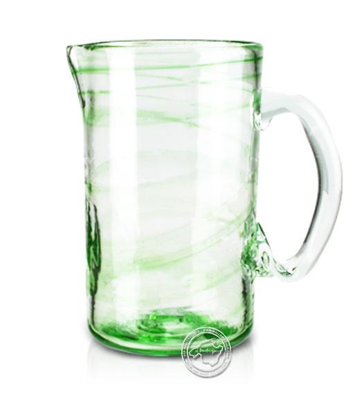 """Glashandwerk Lafiore """"Piche Liso verde"""" - Glaskaraffe mit grünen Spiralen eingearbeitet, je Stück"""
