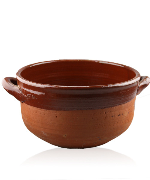 Keramik-Schale mit 2 Griffen Greixonera-Campo-Serie ca. 27 cm x 14 cm