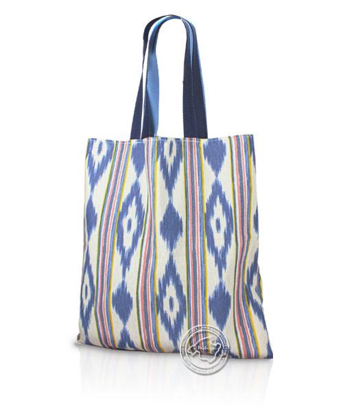 Stofftasche im Lengua-Muster blau/rot/gelb 50 x 50 cm, je Stück