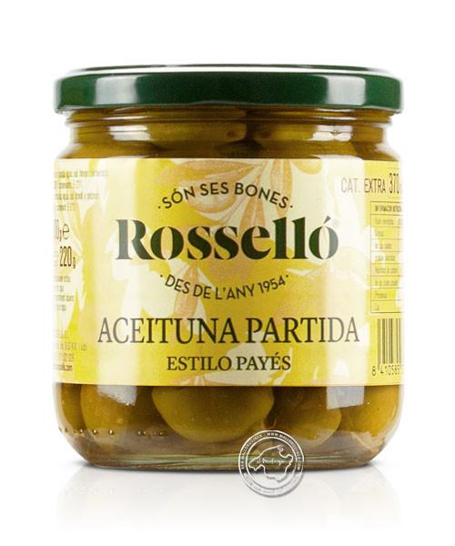 Aceituna Partida, Estilo Payés, 300-g-Glas