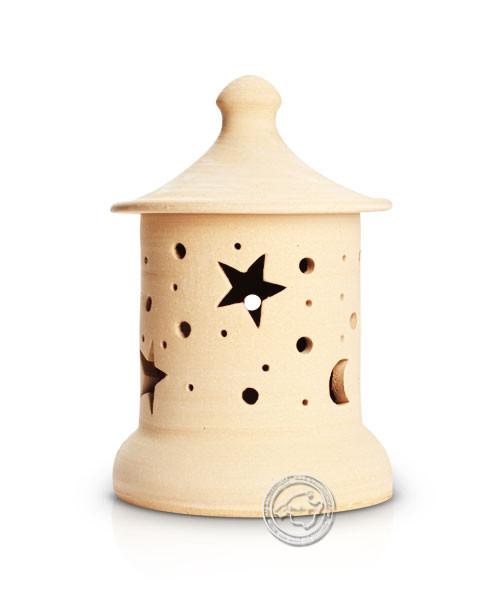 Keramik / Licht / Kunst Campos, Lampara Medi. - Keramikstehleuchte natur Sterne/Mond mit Sockel, 29