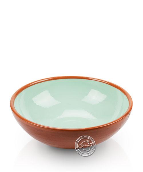 Schüssel, rund, braun/türkis, volllasiert 16 cm, je Stück