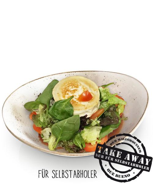 Ensaladas con - Queso de Cabra - Ziegenkäse mit bunter Salatmischung und Orangen-Senf-Dressing