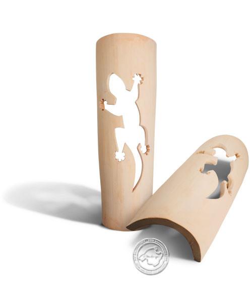 Keramik / Licht / Kunst Ca Na Mel, Tejs Drage - Dachschindelleuchte natur Gecko, groß