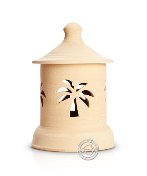Keramik / Licht / Kunst Campos, Lampara Medi. - Keramikstehleuchte natur Palme mit Sockel, 29 cm