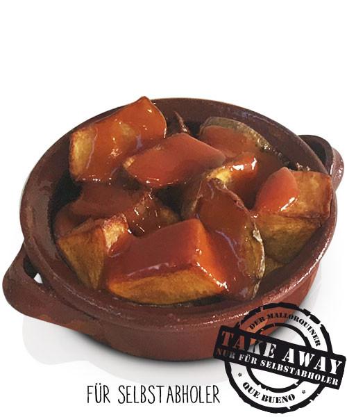 Patatas Bravas con Salsa Picante - Kartoffelwürfel in scharfer Soße
