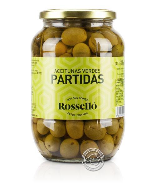 Rosello Olives Verdes Partidas, 1kg/600g