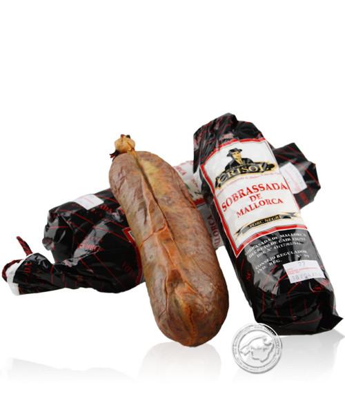 Embotits de Mallorca - Crisol Sobrasada de cerdo negro Paprikastreichwurst vom schw. Schwein, 250 g
