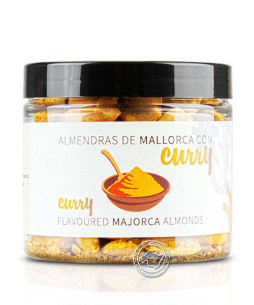 Mallorca Fruits Gran Seleccion Almendra Curry, geröstete, gesalzene Mandeln mit Curry, 125 g