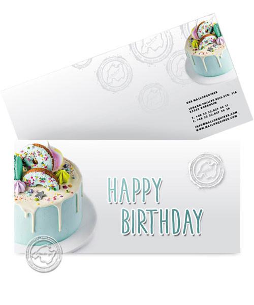 """Grußkarte """"Happy Birthday"""" mit Ihrer persönlichen Widmung"""
