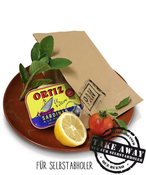 Sardinas a la Antigua Ortiz - Traditionell eingelegte Sardinen in Olivenöl, 140gr