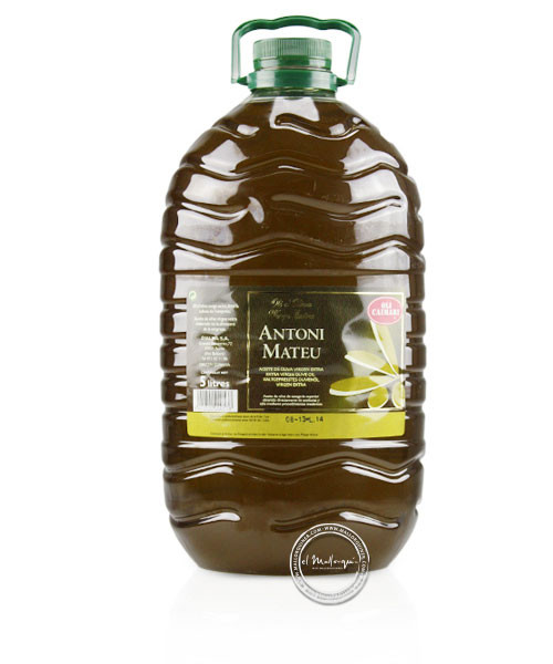 Oli d´oliva Antoni Mateu virgen extra, 5-l-Flasche