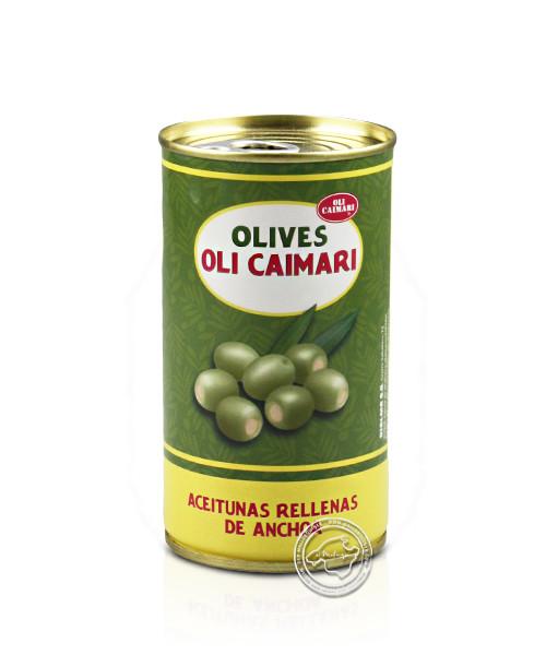 Olives Rellanas Sabor Anchoa Lata, 150-g-Dose