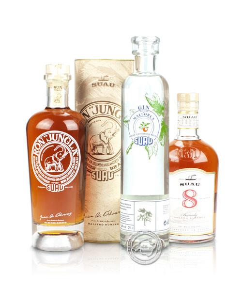 Geschenkset Gin Brandy und Ron von Suau