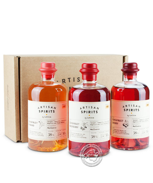 Gin & Fruit Box 1 - 3 Dif. Gins, je Packung