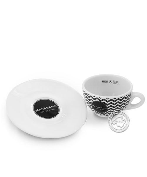 Taza de café marabans para cappuccino Zackenmuster, je Stück