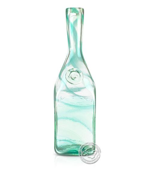 """Glashandwerk Lafiore """"Botella Canete Hilad verde"""" - Flasche mit grünen Spiralen eingearbeitet, je St"""