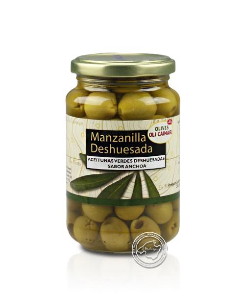 Manzanilla Extra Sabor Anchoa Deshuesada, 160-g-Glas