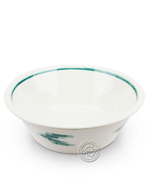 Schüssel weiß, Llenguesmuster grün, volllasiert 30 cm, je Stück