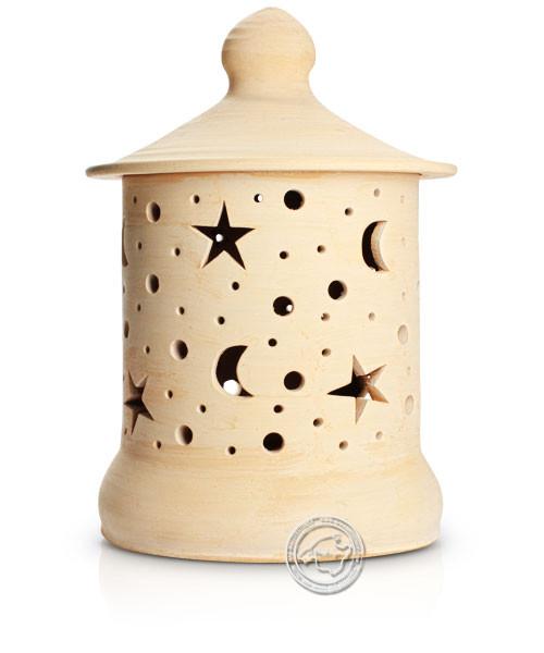 Keramik / Licht / Kunst Campos, Lampara Medi. - Keramikleuchte natur Sterne/Mond mit Sockel, 50 cm