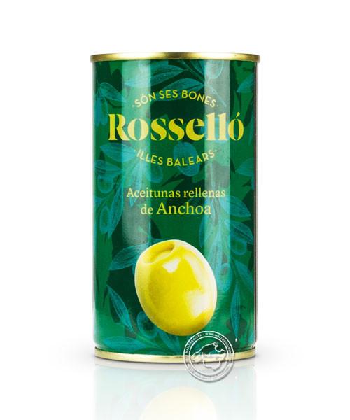 Rosello Aceitunas rellanas de Anchoa, Gefüllte Oliven mit Anchovis, 350/150 g