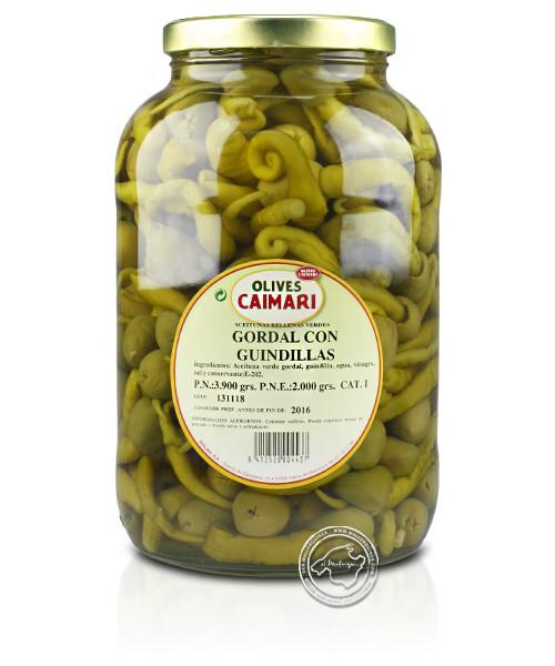 Gordal Con Guindillas - Gordal-Oliven mit Pfefferschoten, 1,8-kg-Glas