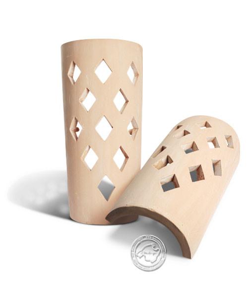 Keramik / Licht / Kunst Ca Na Mel, Tejs Rombos - Dachschindelleuchte natur Rautenmuster, klein