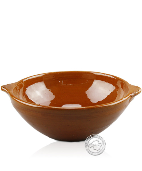 Keramik-Topf, mit 2 Griffen Olla-Campo-Serie ca. 19,5 cm x 6 cm