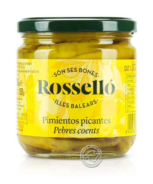 Rosello Guindillas picantes, Scharfe Pepperoni in Essiglake, 300/130 g