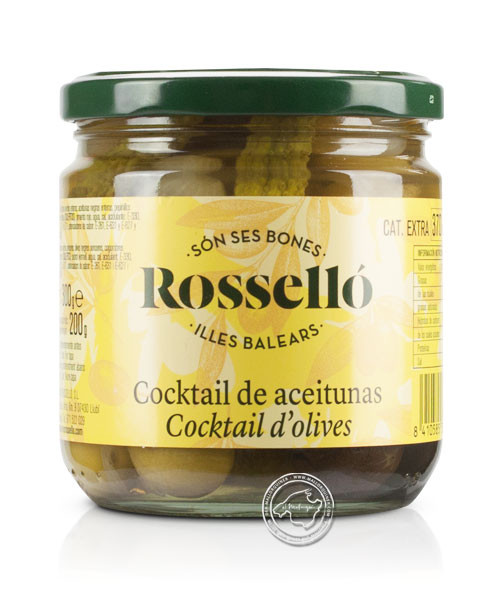 Rossello Aceituna Cocktail sabor Anchoa, 300-g-Glas