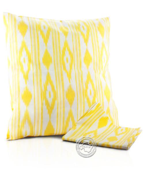 Funda llengues - Kissenüberzug im llengues-Muster, gelb, 60x60 cm