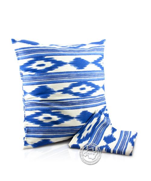 Funda llengues - Kissenüberzug im llengues-Muster, blau, 45x45 cm