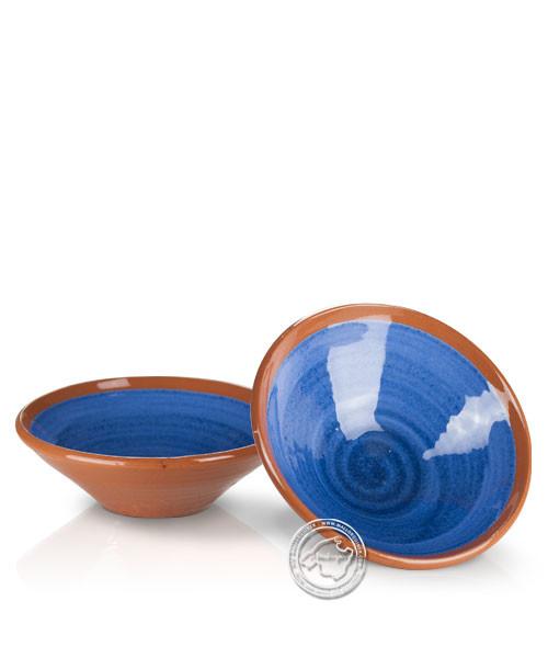 Platitos Mini - Schale volllasiert braun außen, innen blau, rund 10 cm