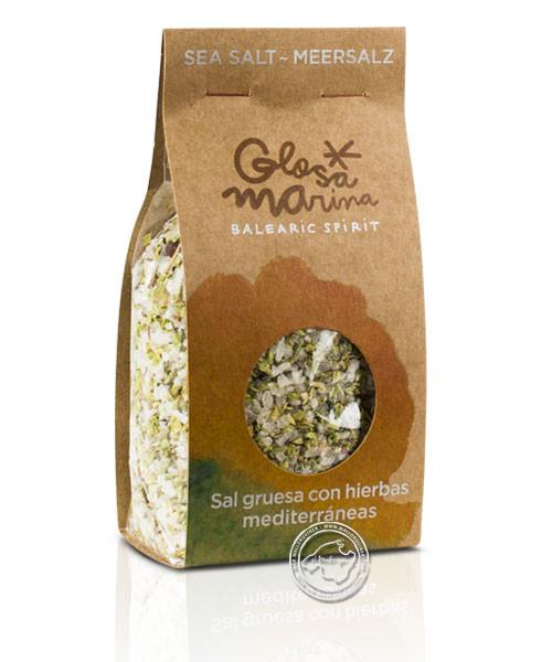 Glosa Marina Sal Marina gruesa con hierbas mediterraneas, 200 g