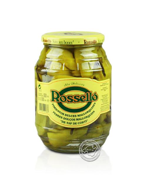 Rosello Pimientos Dulces Mallorquines, Milde Pfefferschoten in Essiglake, 930/500 g