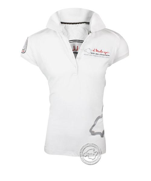 Der Mallorquiner Polo-Shirt weiß Damen Logo gestickt