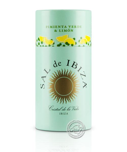 Sal de Ibiza Granito Pimienta Verde y Limón, 85 g