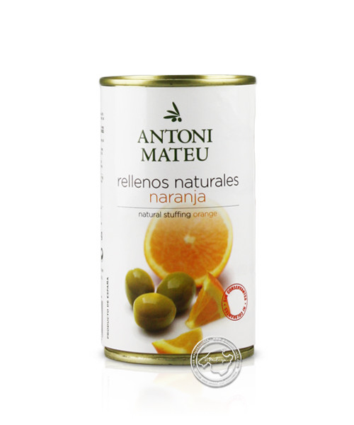Olives Rellanas Sabor Naranja Lata, 350-g-Dose