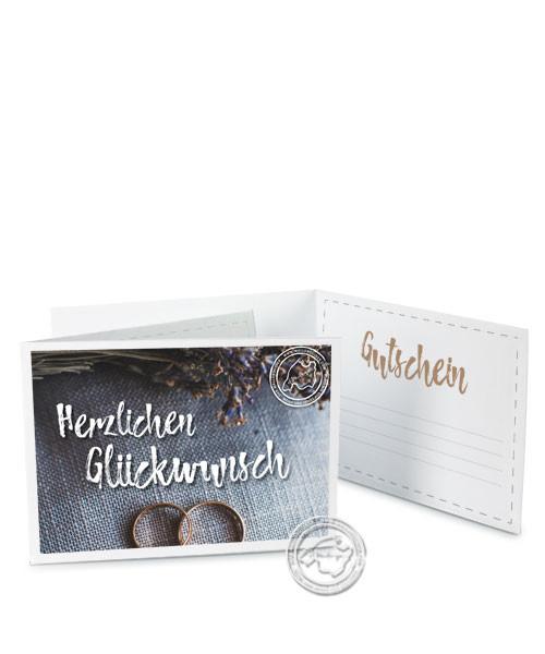 """Faltgutschein """"Hochzeit - Ringe"""""""