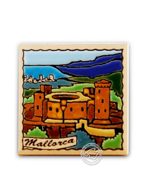 """Fliesen aus Mallorca Reliefmagnetfliese """"Castell"""" 5,5 cm x 5,5 cm"""